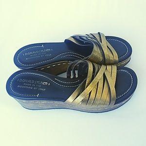 Donald J Pliner Siena Platform Sandals Size 6.5 M